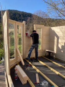 Construction du chalet sauna