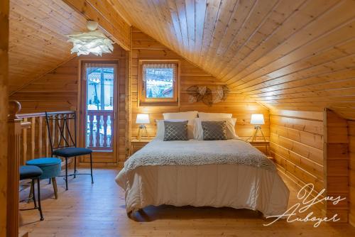 Le lit double en mezzanine