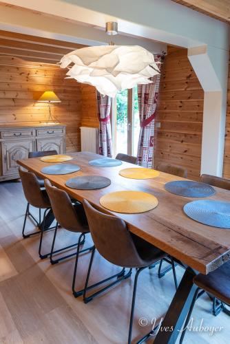 La salle à manger du chalet