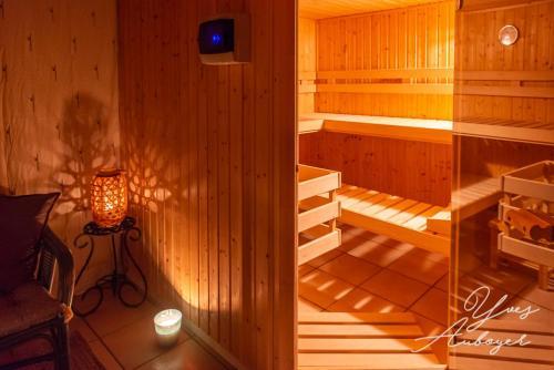 Entrée du sauna
